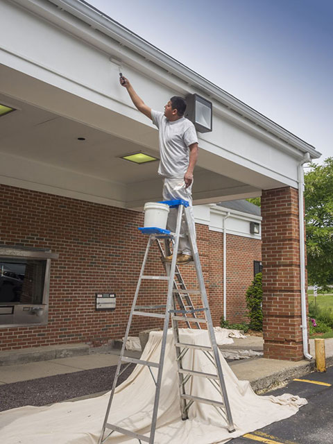 Commerial Exterior Painting Bank Fascia